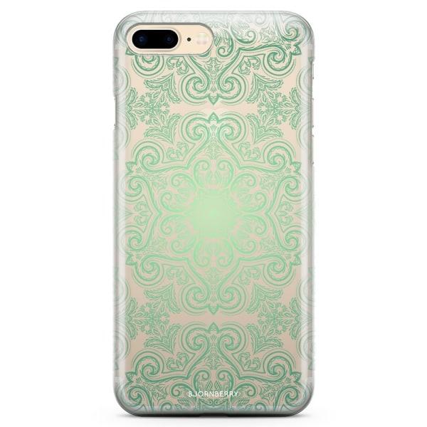 Bjornberry iPhone 7 Plus TPU Skal - Grön Retromönster