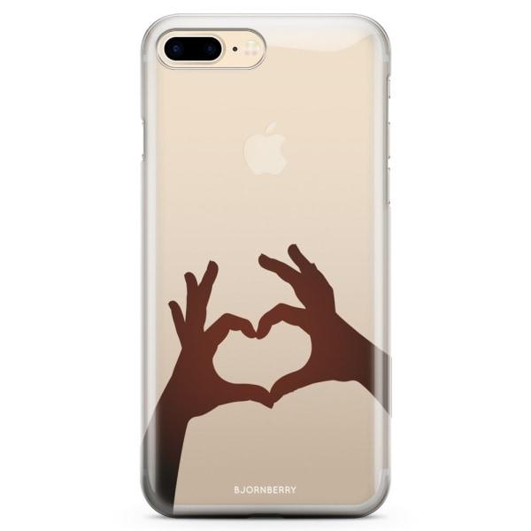 Bjornberry iPhone 7 Plus TPU Skal - Hand Hjärta