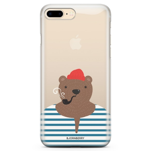 Bjornberry iPhone 7 Plus TPU Skal - Hipster Björn