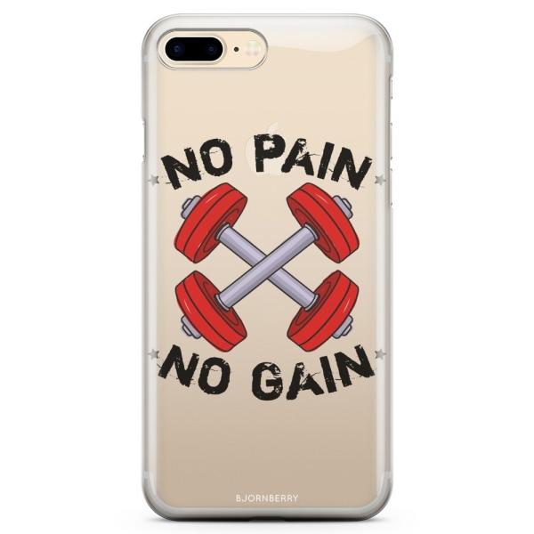 Bjornberry iPhone 7 Plus TPU Skal - No Pain No Gain