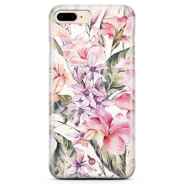 Bjornberry iPhone 7 Plus TPU Skal - Vattenfärg Blommor