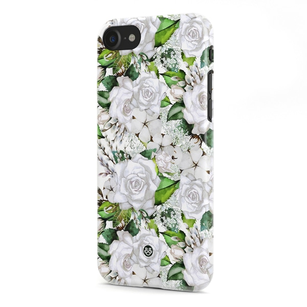 Bjornberry iPhone 7 Premium Skal - White Floral