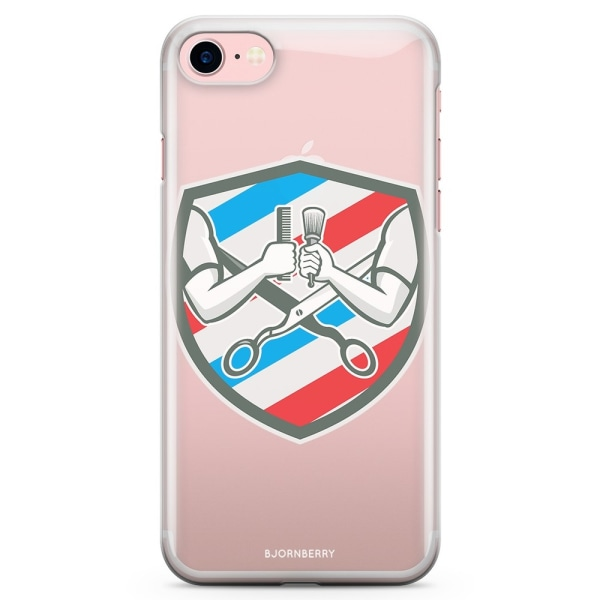 Bjornberry iPhone 7 TPU Skal - Barberare Logo