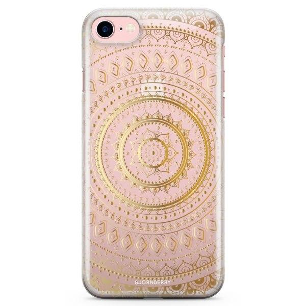 Bjornberry iPhone 7 TPU Skal - Guld Mandala