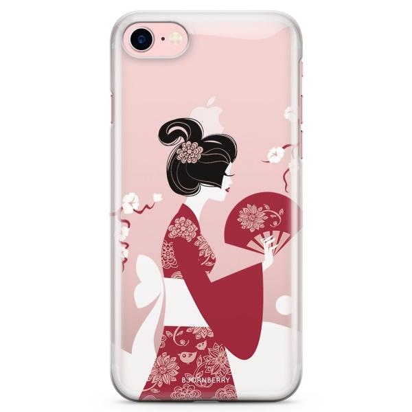 Bjornberry iPhone 7 TPU Skal - Japansk Kvinna