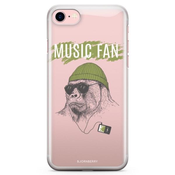 Bjornberry iPhone 7 TPU Skal - Music Fan