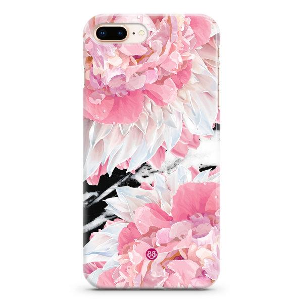 Bjornberry iPhone 8 Plus Premium Skal - Dahlia Marble Dark