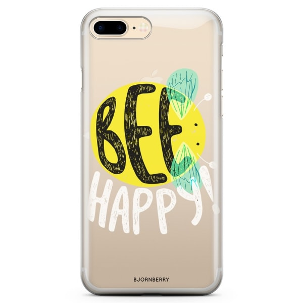 Bjornberry iPhone 8 Plus TPU Skal - BEE HAPPY