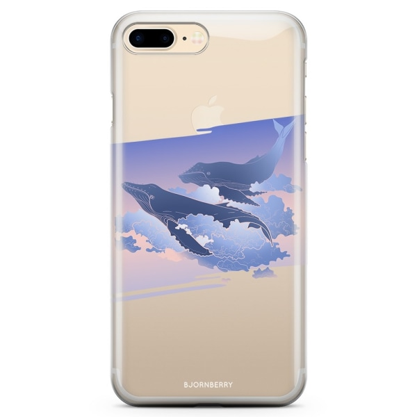Bjornberry iPhone 8 Plus TPU Skal - Flygande valar