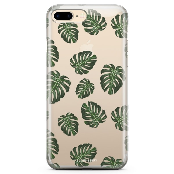 Bjornberry iPhone 8 Plus TPU Skal - Monstera Mönster