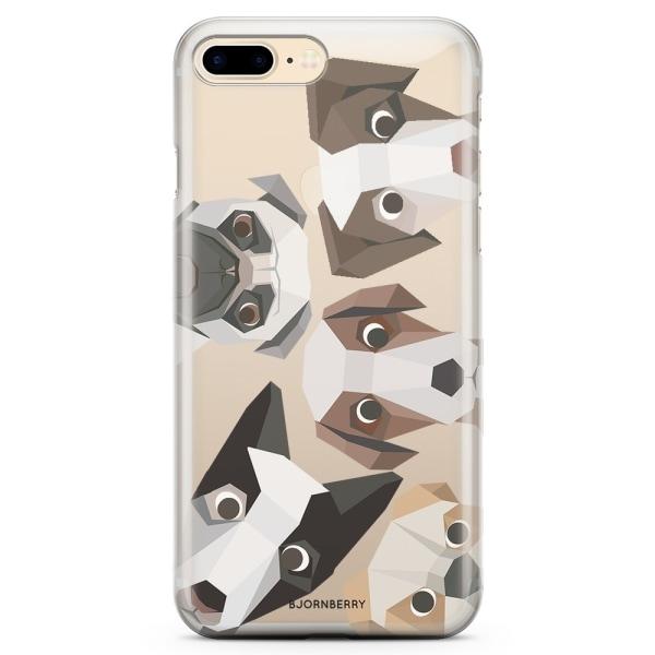 Bjornberry iPhone 8 Plus TPU Skal - Tecknade Hundar