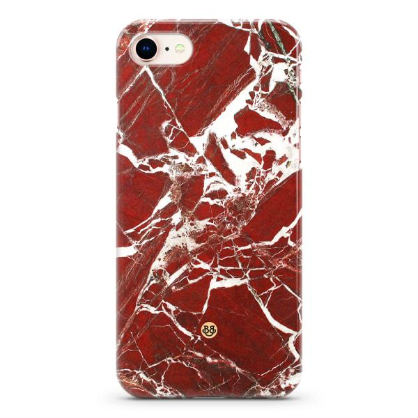 Bjornberry iPhone 8/SE (2020) Premiumskal - Red Marble