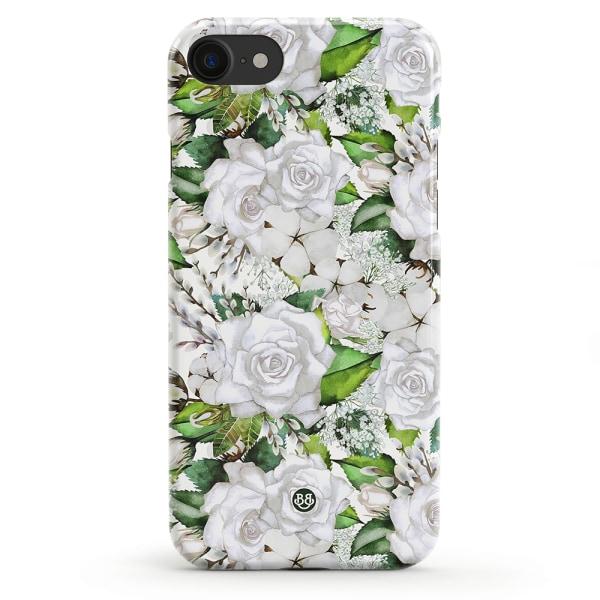 Bjornberry iPhone 8/SE (2020) Premiumskal - White Floral