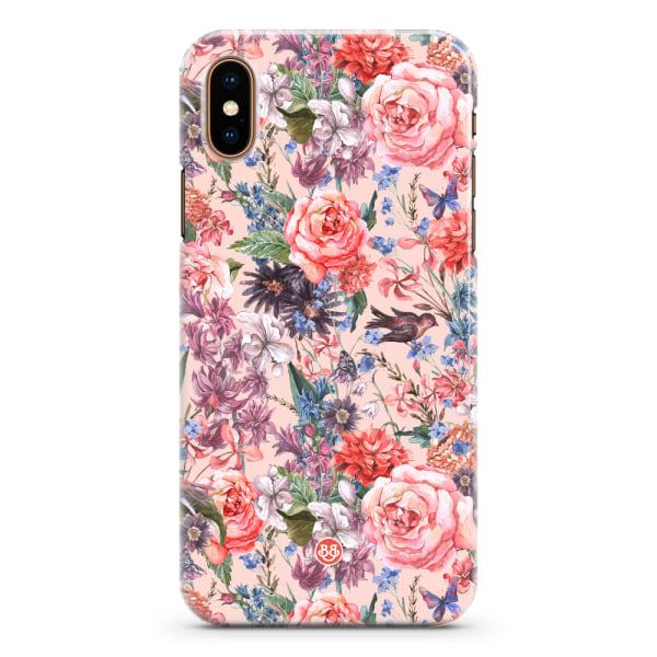 Bjornberry iPhone XS Max Premium Skal - Birds 'n Roses