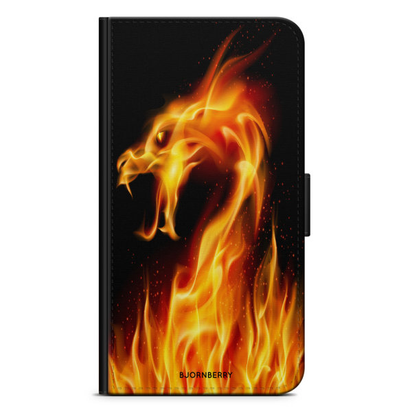 Bjornberry OnePlus 5T Plånboksfodral - Flames Dragon