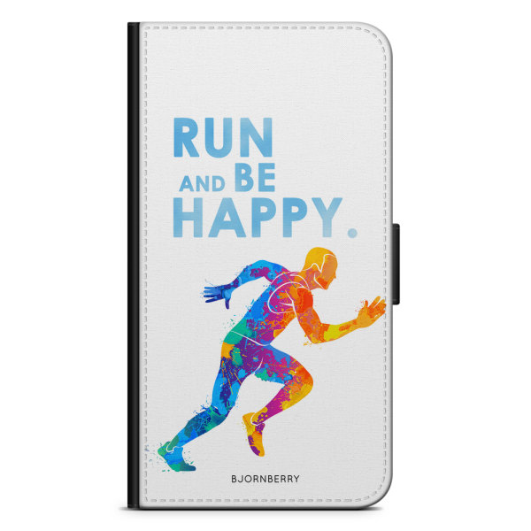 Bjornberry OnePlus 5T Plånboksfodral - Run and be happy