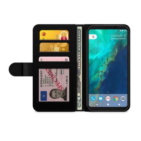Bjornberry Plånboksfodral Google Pixel - Vit Marmor
