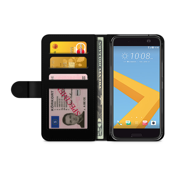 Bjornberry Plånboksfodral HTC 10 - Space Triangle