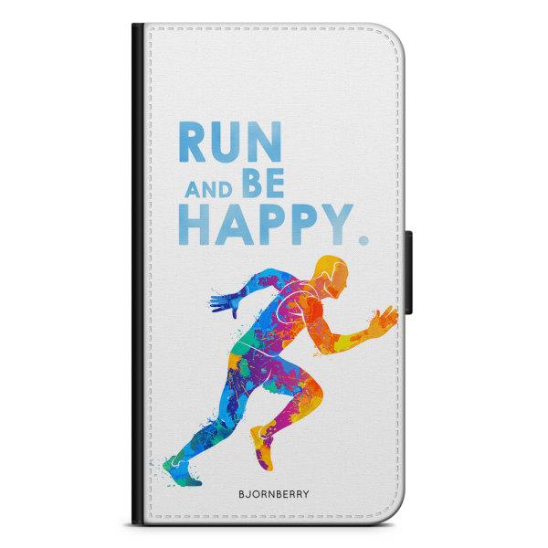 Bjornberry Plånboksfodral Huawei Honor 10 - Run and be happy