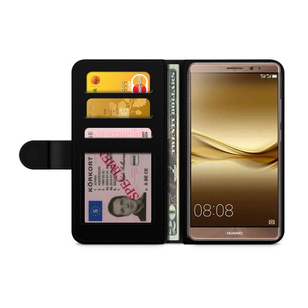 Bjornberry Plånboksfodral Huawei Mate 8 - Läppstift