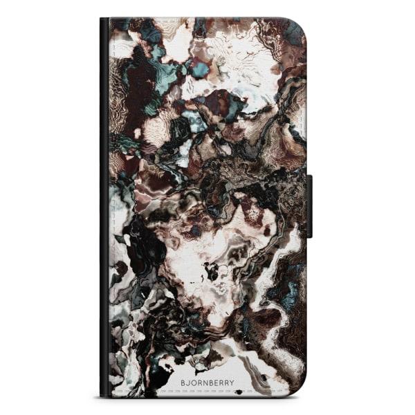 Bjornberry Plånboksfodral Huawei Nexus 6P - Brun Marmor
