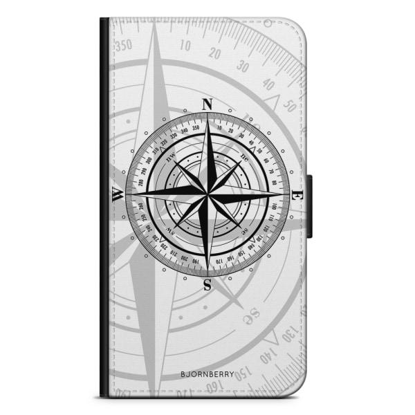 Bjornberry Plånboksfodral Huawei Nexus 6P - Kompass Vit
