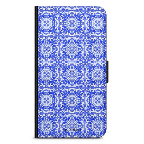 Bjornberry Plånboksfodral Huawei P10 Lite - Blått Kakel