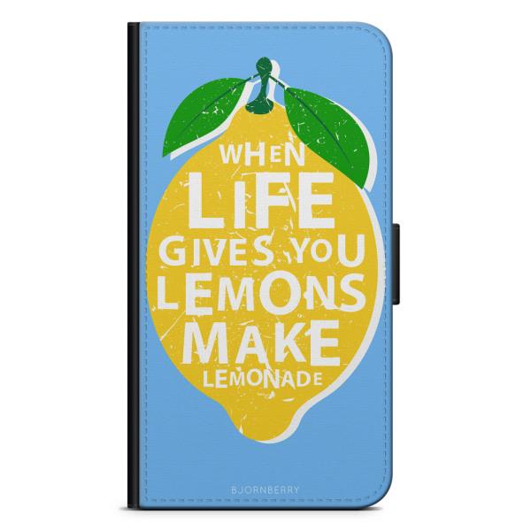 Bjornberry Plånboksfodral Huawei P10 Lite - Citron Citat