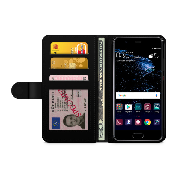 Bjornberry Plånboksfodral Huawei P10 Lite - Läppstift