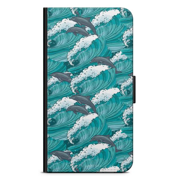 Bjornberry Plånboksfodral Huawei P10 Lite - Vågor & Delfiner