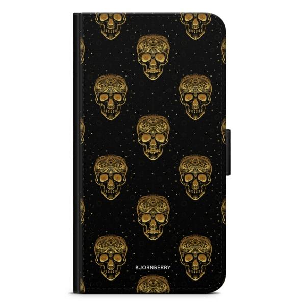 Bjornberry Plånboksfodral Huawei P20 - Gold Skulls