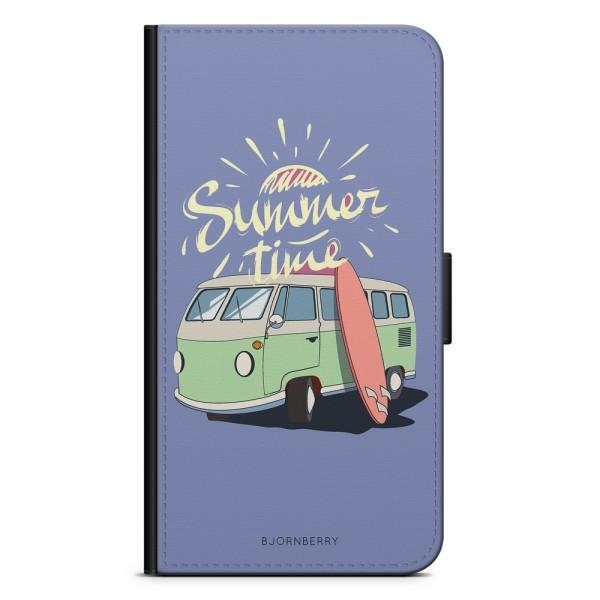 Bjornberry Plånboksfodral Huawei P20 - Summer Van (Blå)