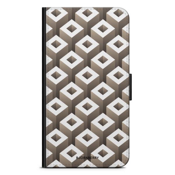 Bjornberry Plånboksfodral Huawei P30 - Geometriska mönster
