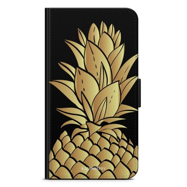 Bjornberry Plånboksfodral Huawei P30 - Guldig Ananas