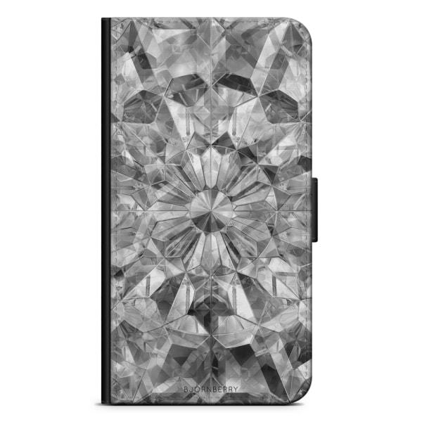 Bjornberry Plånboksfodral Huawei P30 Lite - Grå Kristaller