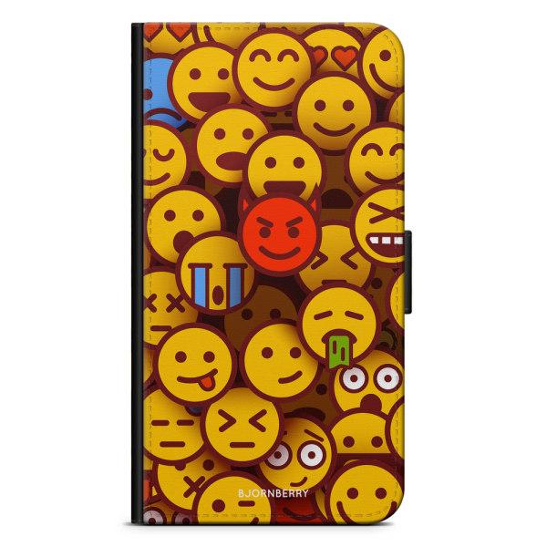 Bjornberry Plånboksfodral Huawei P30 Pro - Emojis
