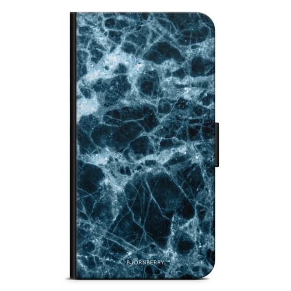 Bjornberry Plånboksfodral Huawei P8 Lite - Blå Marmor