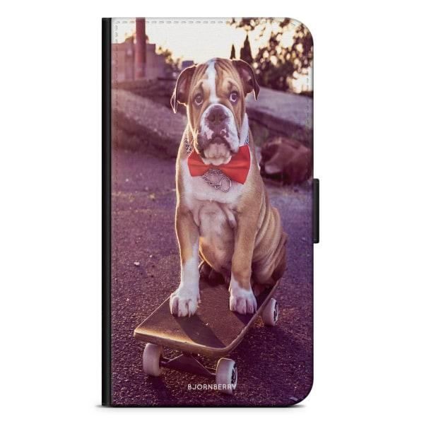Bjornberry Plånboksfodral Huawei P8 Lite - Bulldog skateboard