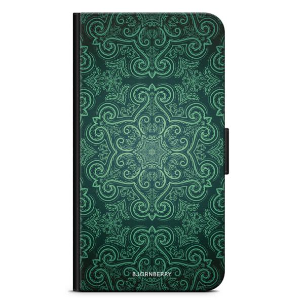 Bjornberry Plånboksfodral Huawei P8 Lite - Grön Retromönster