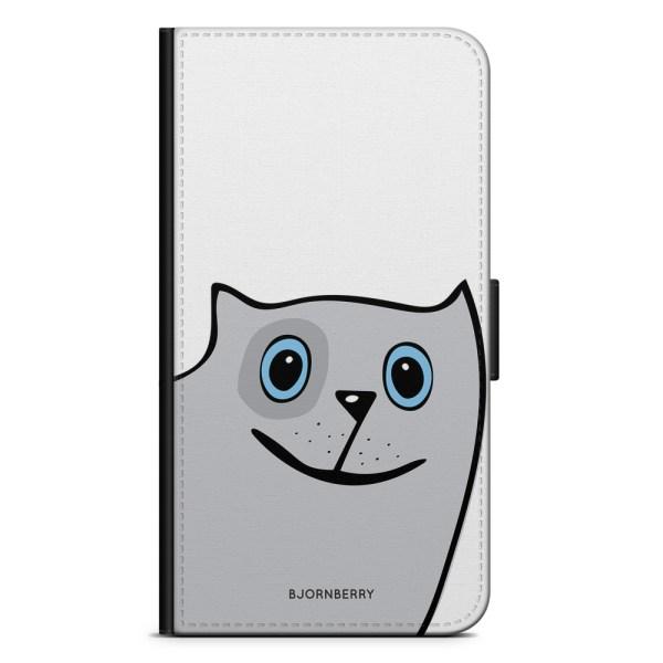 Bjornberry Plånboksfodral Huawei P8 Lite - Rolig Katt