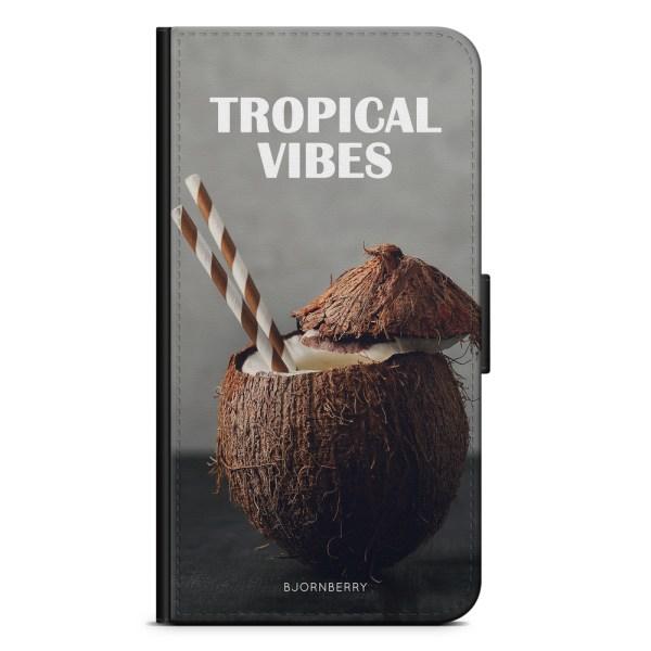Bjornberry Plånboksfodral Huawei P9 - Kokosnöt Tropical