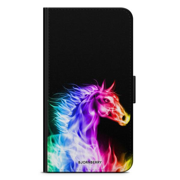 Bjornberry Plånboksfodral Huawei Y6 (2019)- Flames Horse