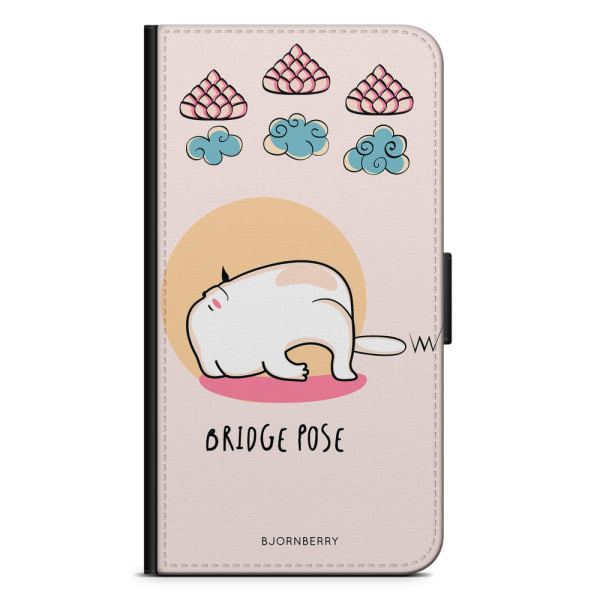 Bjornberry Plånboksfodral iPhone 11 - Yoga Cat Bridge Pose