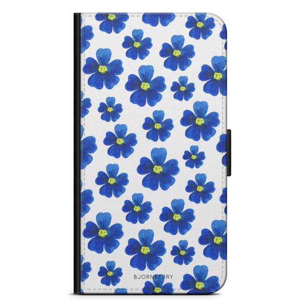 Bjornberry Plånboksfodral iPhone 4/4s - Blå Blommor