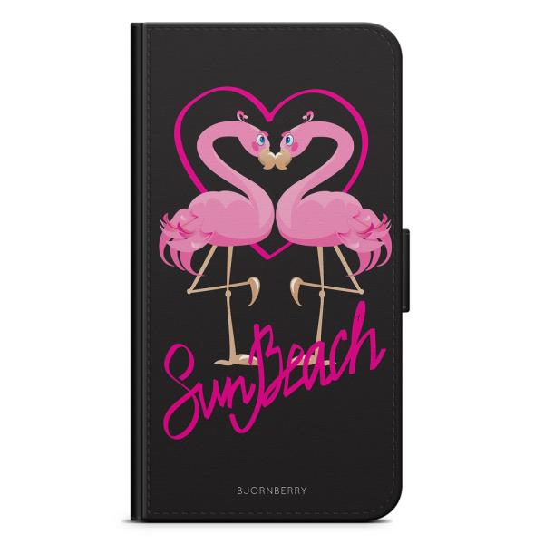 Bjornberry Plånboksfodral iPhone 4/4s - Sun Beach Flamingo
