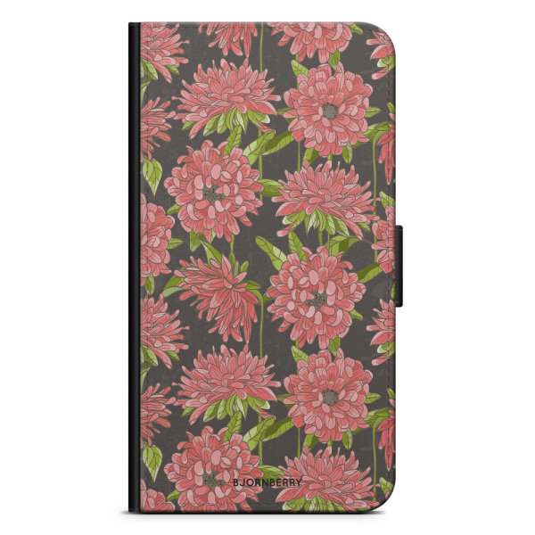 Bjornberry Plånboksfodral iPhone 5/5s/SE - Blommigt Mönster