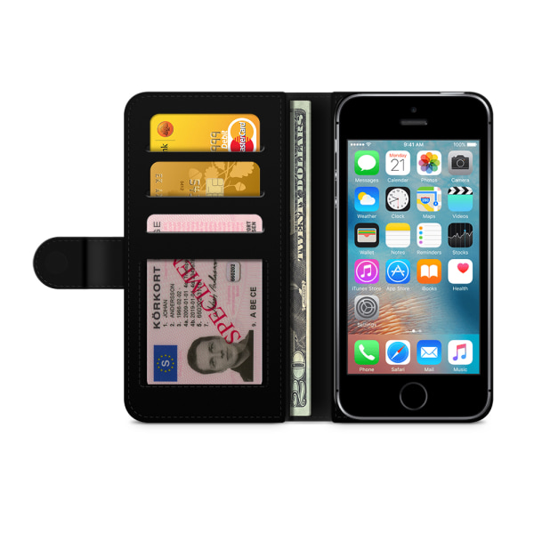 Bjornberry Plånboksfodral iPhone 5/5s/SE - Glassar