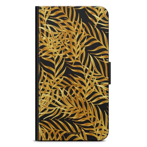 Bjornberry Plånboksfodral iPhone 5/5s/SE - Palmblad Guld