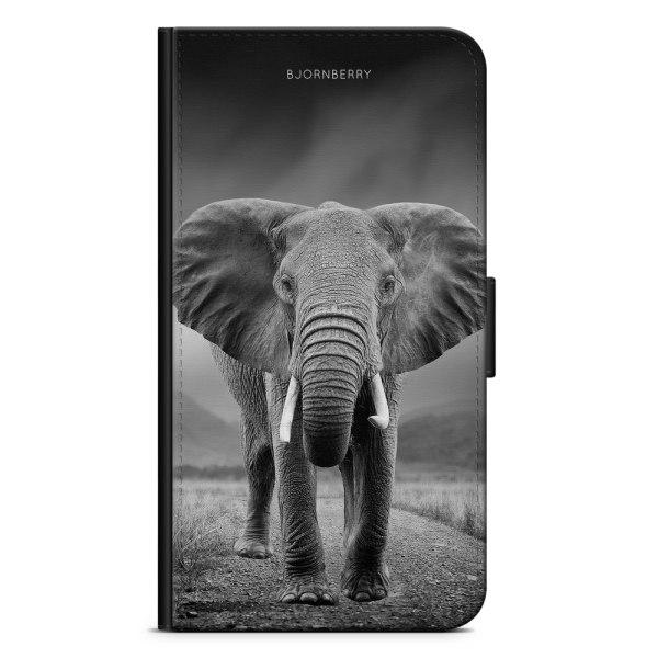 Bjornberry Plånboksfodral iPhone 5/5s/SE - Svart/Vit Elefant