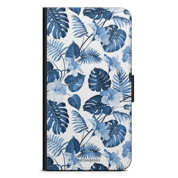 Bjornberry Plånboksfodral iPhone 5C - Blå Blommor